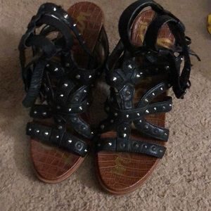 Sam Edelman Spiked Caged Sandals
